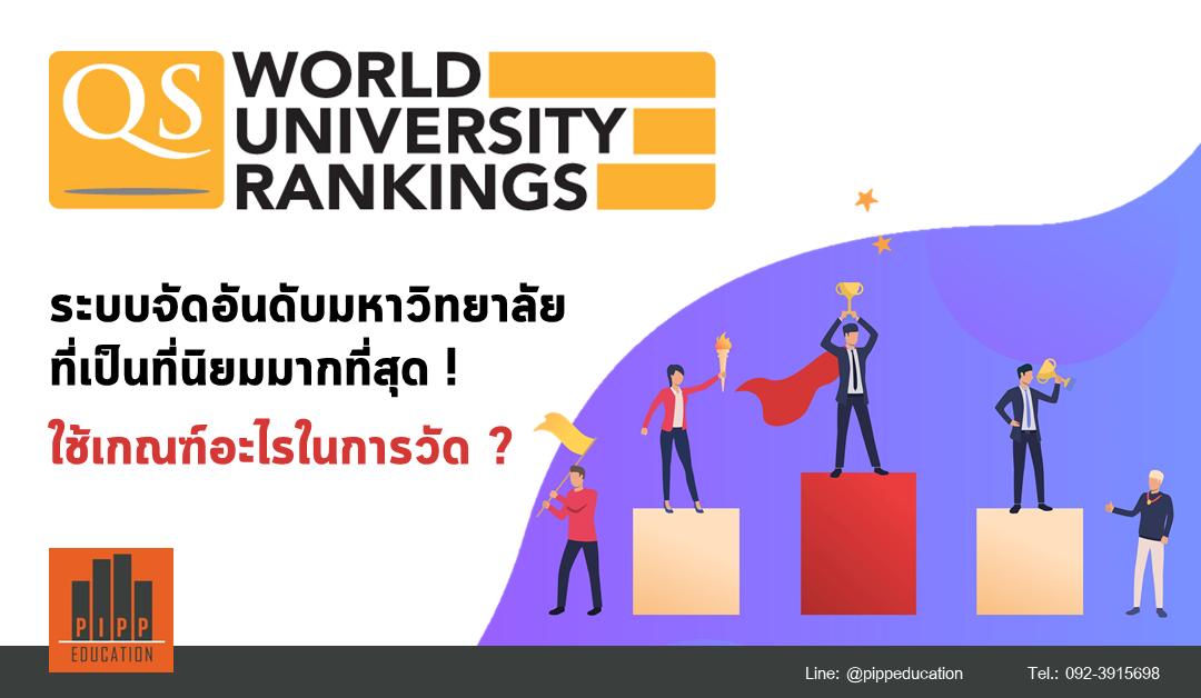 'QS World University Rankings' คืออะไร? ใช้เกณฑ์อะไรในการวัด?
